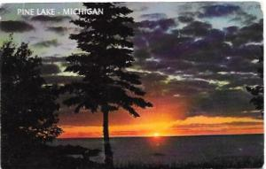 US Unused. Sunset at Pine Lake, Michigan. Beautiful.