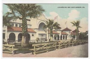 Los Banos Del Mar Santa Barbara California 1910c postcard