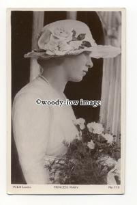 r2271 - H.R.H. Princess Mary in a White Rose Flower Summer Hat - postcard