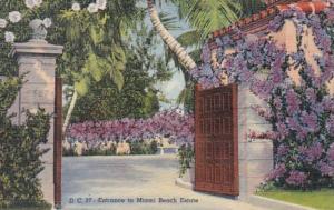 Florida Miami Beach Entrance To A Miami Beach Estate 1943 Curteich