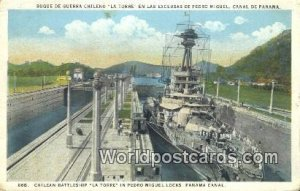Chilean Battleship, La Torre Panama Canal Panama Writing on back