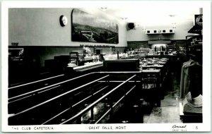 GREAT FALLS, Montana RPPC Photo Postcard The Club Cafeteria Restaurant c1950s
