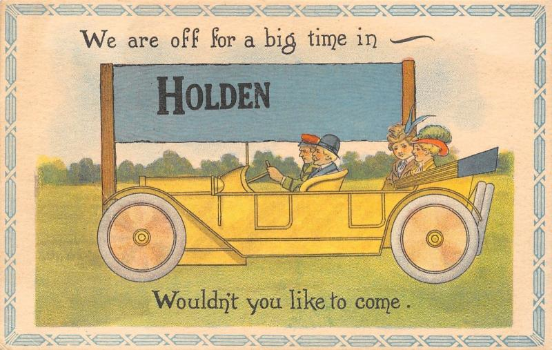 Holden AB Off For A Big Time in My Auto, Wouldn't You Like To Come? 1914