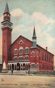 Easthampton MA Memorial Hall Raphael Tuck #2709 Postcard