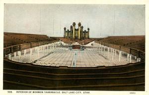 UT - Salt Lake City. Mormon Tabernacle Interior