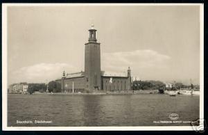 sweden, STOCKHOLM, Stadshuset, Town Hall (1951) ppc