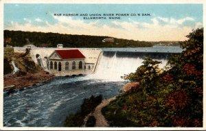 Maine Ellsworth Bar Harbor and Union River Power Company Dam