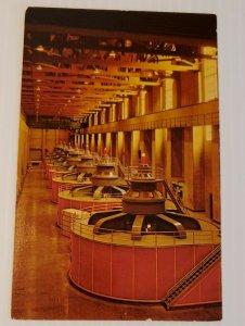 Vintage Postcard Hoover Dam giant generators California Arizona Nevada 1989