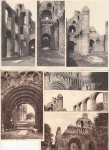 Lot 7 postcards Colchester Botolph `s Priory architecture