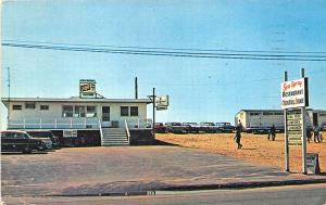 Misquamicut RI Sea Spray Drive-In Restaurant Narraganset Beer Sign Postcard