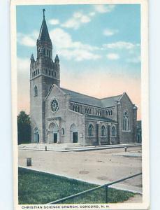 Unused W-Border CHURCH SCENE Concord New Hampshire NH A8400