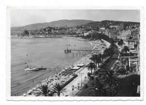 France Cannes Cote D'Azur Beach 1948 La Croisette Glossy Photo Postcard 4X6