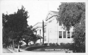 1920s San Gabriel California RPPC Photo Postcard High School Monrovia 2964