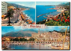 Modern Postcard The French Riviera Menton Pearl of France Boulevard Generale ...