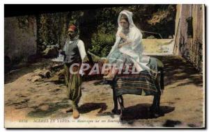 Old Postcard Scenes And Types Of Its Moorish donkey Donkey mule