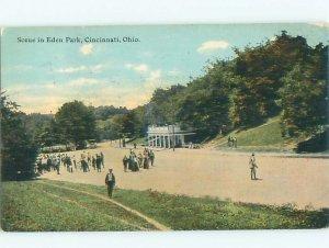 Divided-back PARK SCENE Cincinnati Ohio OH AF7549