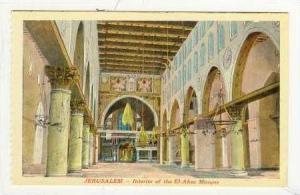 Jerusalem - Interior of the El-Aksa Mosque, 1920s