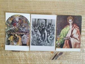 EL GRECO POSTCARD ART LOT.3 POSTCARDS*P21