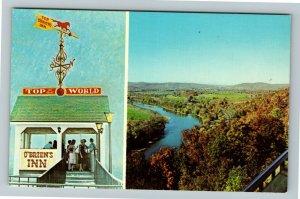 Waverly NY-New York, Top Of The World O'Brien's Inn, Chrome Postcard