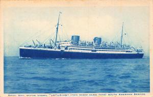 Royal Mail Motor Vessel Asturias ship Postcard