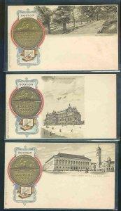 pc8830 postcard Boston Mass Bostonia Condita AD 1630 TEN all MOBSC