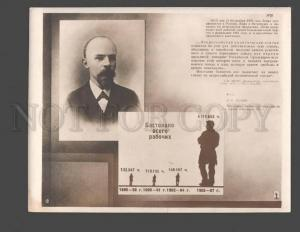 094144 USSR LENIN diagram striking worker Vintage photo POSTER