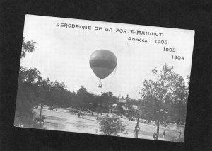 Aerodrome de la Porte-Maillot Paris Annees 1902, 1903, 1904, Old Postcard