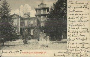 Cedarcorft PA Kennett Square c1905 Postcard