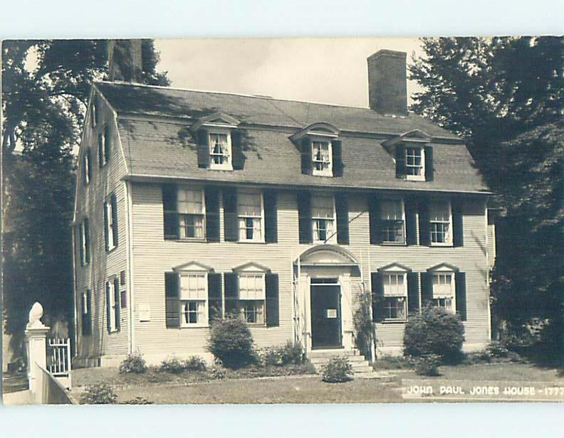 Pre-1950 rppc JOHN PAUL JONES HOUSE Portsmouth New Hampshire NH HM3610