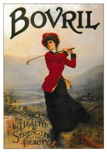 Post Card GOLF SERIES (B) Advertising with a  Golf theme BOVRIL ROGS8
