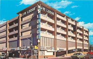 Reno Nevada~JM Motor Lodge~Coffee Shop~Parking Garage~1960s~Ford Mustang~Car