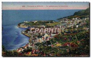 Old Postcard Monaco Monte Carlo General view taken of Roquebrune