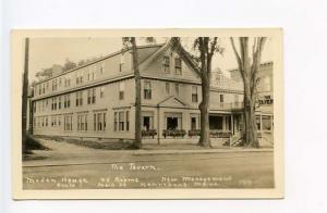 Kennebunk ME The Tavern Main Street RPPC Postcard