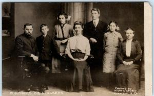 RPPC  KENMARE, North Dakota  ND   Family Portrait  WINTHERS og NIELSENS Postcard