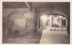 Switzerland Chateau de Oron Cour interieure avec entree du Soulerrain Real Photo