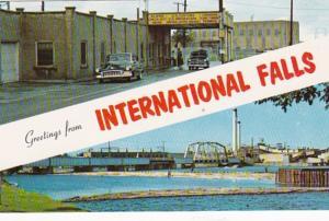 Minnesota International Falls Greetings With U S Customs & Immigration Statio...