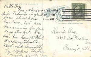 Streetcar Bridge Lagoon Lansdowne East St Louis Illinois 1910 postcard