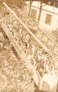 Mt Manitou Colorado Scenic Incline Trip Train Real Photo Antique Postcard K22585
