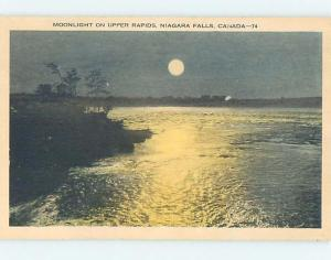 W-Border MOONLIGHT ON THE UPPER RAPIDS Niagara Falls Ontario ON hp5279