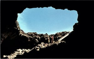 Vintage Idaho Postcard, Tunnel , Craters of the Moon National Monument, pb24
