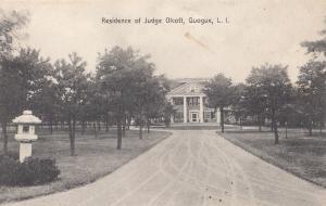 Judge Olcott Residence New York Long Island Antique USA Postcard