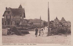 Bernieres Sur Mer Normandy Rue Des Ormes Walking Dog Mac Antique French Postcard
