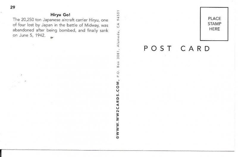 Hiryu Go! Japanese Aircraft Postcard PC101-6321