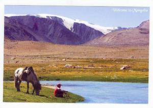 A Herding Boy Comes Home To Shepherd His Father´s Livestock,Scenery W/Glacie...