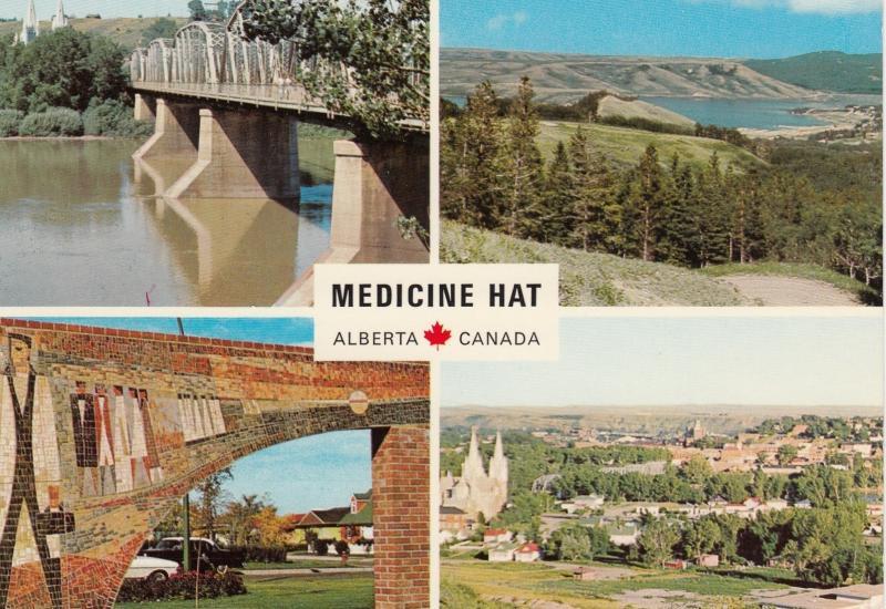 MEDICINE HAT , Alberta , Canada , 50-60s ; 4-views
