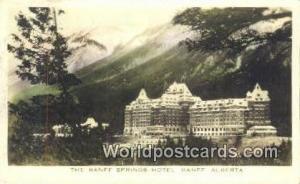 Canada Banff, Alberta Banff Springs Hotel