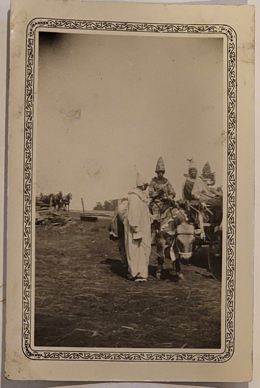 Fathers And Sons Ku Klux Klan Induction. Real Photograph