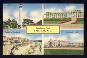 California/CA Postcard, Greetings From California Multi-View, Beach/Golden Gate