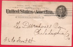 17072 Baltimore & Ohio Freight Notice Postal Card - 1895