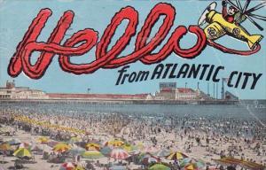 New Jersey Atlantic City Hello From Atlantic City 1945